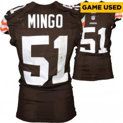 Barkevious Mingo Cleveland Browns Brown Game-Used Jersey December 7, 2014 vs. Indianapolis Colts