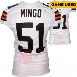 Barkevious Mingo Cleveland Browns White Game-Used Jersey November 23, 2014 vs. Atlanta Falcons