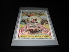 Barnum & Bailey Excursions from Everywhere Framed 10x14 Poster