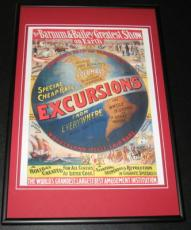 Barnum & Bailey Excursions from Everywhere Greatest Show Framed 10x14 Poster