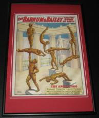 Barnum & Bailey Greatest Show Apollo Trio Framed 10x14 Poster