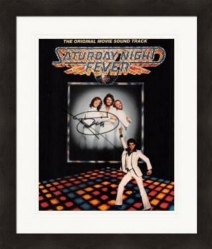 Barry Gibb autographed 8x10 Photo (Saturday Night Fever) #SC1 Matted & Framed