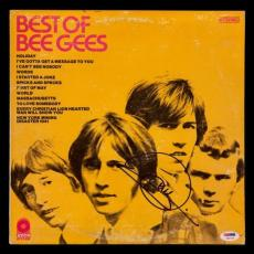 "Barry Gibb Autographed Bee Gees ""Best of The Bee Gees"" Album Signed PSA DNA COA"