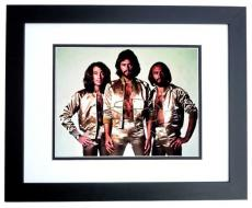 Barry Gibb Signed - Autographed BEE GEES Concert 11x14 Photo BLACK CUSTOM FRAME