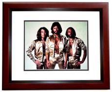 Barry Gibb Signed - Autographed BEE GEES Concert 11x14 Photo MAHOGANY CUSTOM FRAME