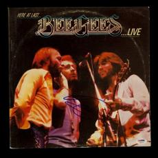 """Barry Gibb Autographed Bee Gees """"Here at Last... Live"""" Album Signed PSA DNA COA"""