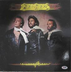 Barry Gibb Bee Gees Autographed Signed Album LP Record Certified PSA/DNA COA