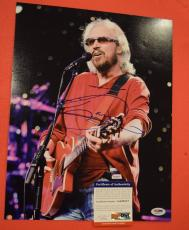 Barry Gibb Bee Gees Signed Autographed 11x14 Photo PSA/DNA COA