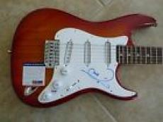 Barry Gibb Bee Gees Signed Autographed Electric Guitar PSA Certified