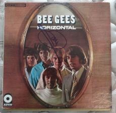 Barry Gibb Bee Gees Signed Autographed Record Album Lp Horizontal