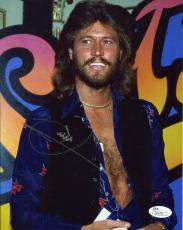 BARRY GIBB HAND SIGNED 8x10 COLOR PHOTO     SEXY SINGER   THE BEE GEES       JSA