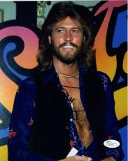 BARRY GIBB HAND SIGNED 8x10 COLOR PHOTO       VERY SEXY POSE   BEE GEES      JSA