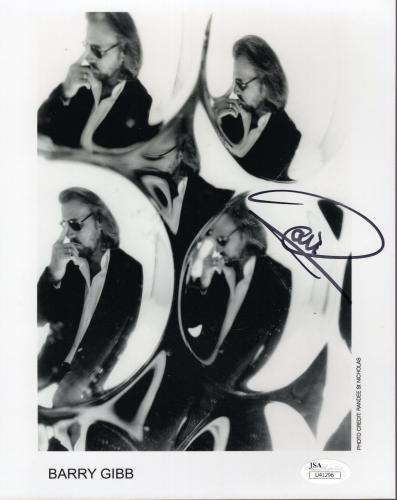 BARRY GIBB HAND SIGNED 8x10 PHOTO       LEGENDARY BEE GEES SINGER        JSA