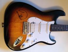 BARRY GIBB of The BEE GEES Signed FENDER STRATOCASTER GUITAR w/ Psa Dna Coa
