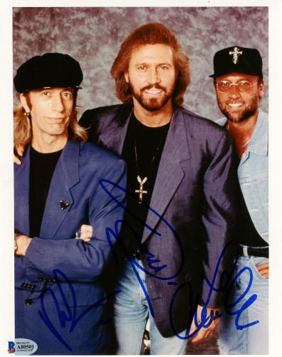 "Barry Gibb, Robin Gibb, & Maurice Gibb Autographed 8"" x 10"" The Bee Geees Photograph 3 - BAS COA"