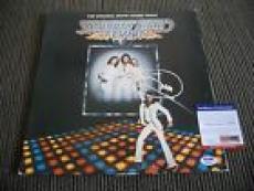 Barry Gibb Saturday Night Fever Album IP Signed Autograph Album LP PSA Certified