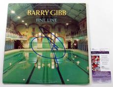 "Barry Gibb Signed 12"" Single Record Album Fine Line w/ JSA AUTO"