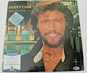 Barry Gibb Signed Album w/COA The Bee Gees Record New Voyager