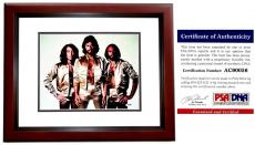 Barry Gibb Signed - Autographed BEE GEES 11x14 inch Photo with PSA/DNA Authenticity MAHOGANY CUSTOM FRAME