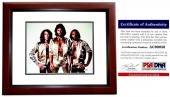 Barry Gibb Signed - Autographed BEE GEES 11x14 inch Photo with PSA/DNA Certificate of Authenticity (COA) MAHOGANY CUSTOM FRAME
