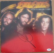 Barry Gibb signed Bee Gees LP Album Cover Spirits Having Flown PSA/DNA auto