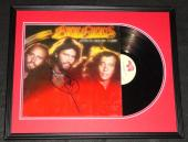 Barry Gibb Signed Framed Bee Gees Spirits Having Flown 1979 Album Display JSA