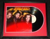 Barry Gibb Signed Framed Bee Gees Spirits Having Flown 1979 Record Album Display