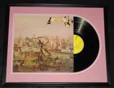 Barry Gibb Signed Framed Bee Gees Trafalgar 1971 Record Album Display