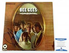Barry Gibb Signed LP Record Album Bee Gees Horizontal w/ Beckett AUTO