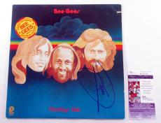 Barry Gibb Signed Record Album Bee Gees Monday's Rain w/ JSA AUTO