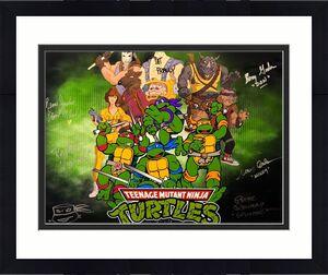 Barry Gordon Rob Paulsen Kevin Eastman Signed Ninja Turtles 16x20 Photo TMNT BAS