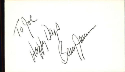 "BARRY JAMES PHANTOM OF THE OPERA Signed 3""x5"" Index Card"
