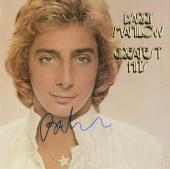 Barry Manilow Autographed Greatest Hits Album Cover - PSA/DNA COA