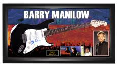 Barry Manilow Autographed Guitar PSA + Display + Exact Vid Proof AFTAL UACC RD C