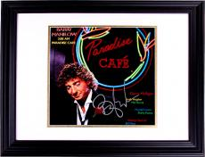 Barry Manilow Autographed Paradise Cafe Signed Album LP PSA