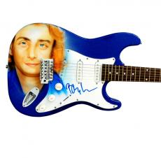 Barry Manilow Autographed Signed Custom Airbrush Guitar Exact Video Proof