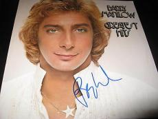 Barry Manilow Signed Album Greatest Hits In Person Coa Rare Signature Mint Nyc
