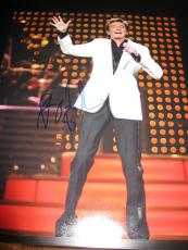 BARRY MANILOW SIGNED AUTOGRAPH 11x14 PHOTO IN PERSON RARE PROOF WE MADE IT C