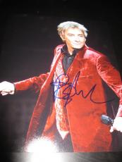BARRY MANILOW SIGNED AUTOGRAPH 8x10 PHOTO IN PERSON COA AUTO RARE PROMO NYC F
