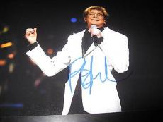 BARRY MANILOW SIGNED AUTOGRAPH 8x10 PHOTO IN PERSON COA AUTO RARE PROMO NYC G