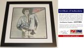 Barry Manilow Signed - Autographed BARRY LP Record Album Cover with PSA/DNA Certificate of Authenticity (COA) BLACK CUSTOM FRAME