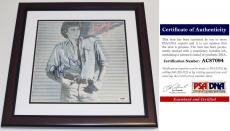 Barry Manilow Signed - Autographed BARRY LP Record Album Cover with PSA/DNA Authenticity MAHOGANY CUSTOM FRAME