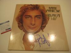 BARRY MANILOW Signed GREATEST HITS Album w/ PSA COA
