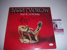 Barry Manilow Tryin To Get The Feelin Jsa/coa Signed Lp Record Album