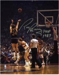 "Rick Barry Golden State Warriors Autographed 8"" x 10"" Back Jump Shot Photograph with HOF 1987"