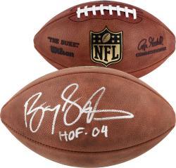 """Barry Sanders """"hof '04"""" (duke) Autographed Football"""
