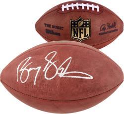 Autographed Barry Sanders Football - Duke Mounted Memories