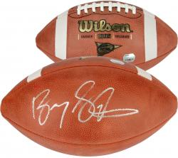 Barry Sanders Autographed NCAA Football - Mounted Memories