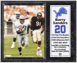 "Barry Sanders Detroit Lions Sublimated 12"" x 15"" Player Plaque - Mounted Memories"