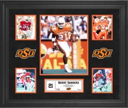 Barry Sanders Oklahoma State Cowboys Framed 5-Photo Collage